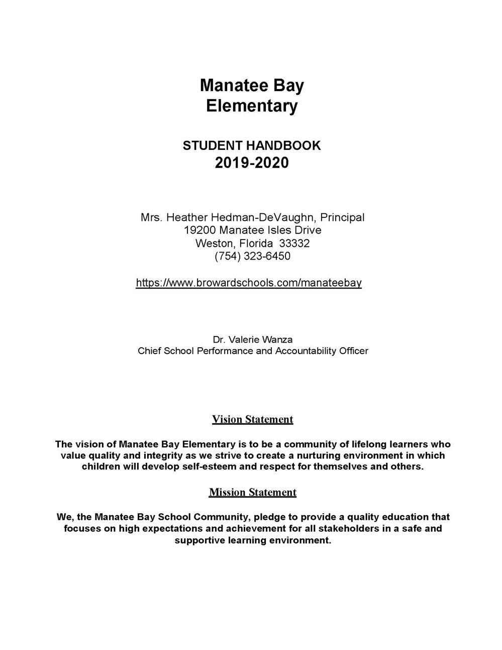 Manatee Bay Elementary / Homepage