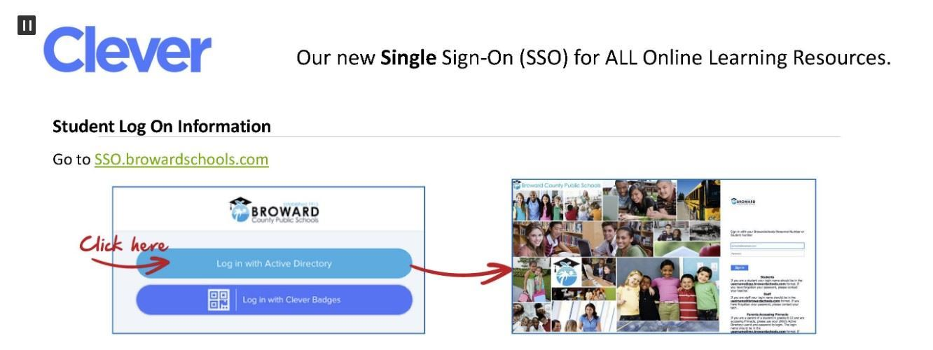 Clever Single Sign-on /  Visit BCPS SSO Launchpad