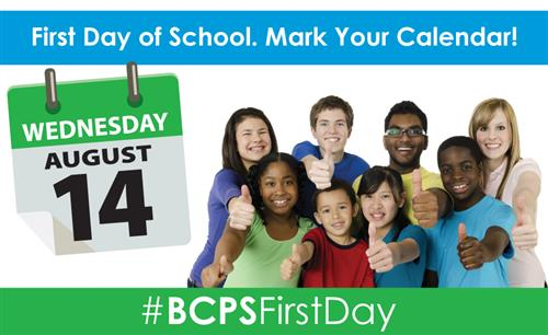 Mark Your Calendar-School Begins on August 14th!