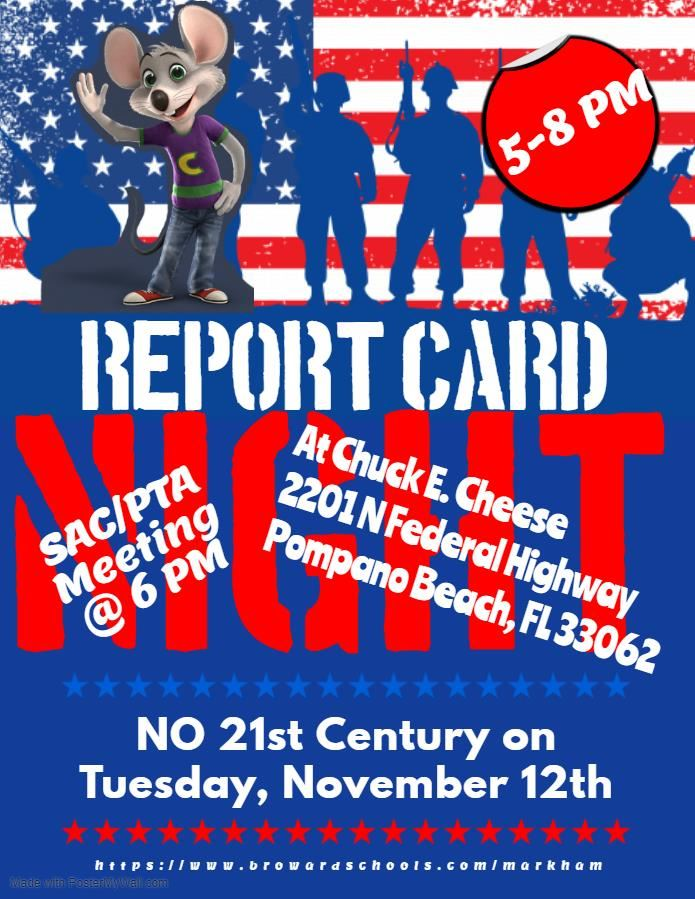 Report Card Flyer