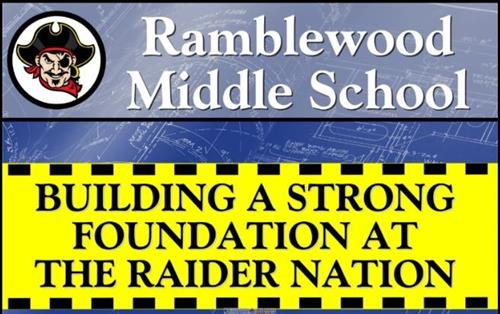 RMS Construction site panel. Building a strong foundation at the Raider nation