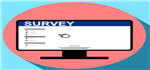 picture of a computer with a survey on it