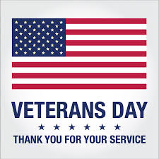 On November 9th join us and celebrate our Veterans, wear Red White and Blue