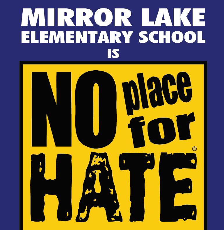 Mirror Lake Elementary - No Place For Hate Recognition