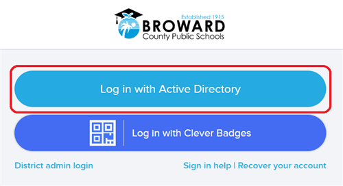 Log in with Active Directory