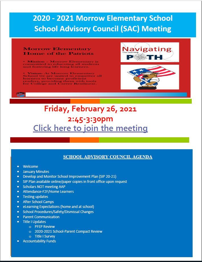 Morrow's February SAC/SAF Meeting