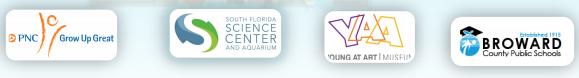 Logo for PNC, South Florida Science Center and Aquarium, Young at Art Museum, and Broward County Public Schools