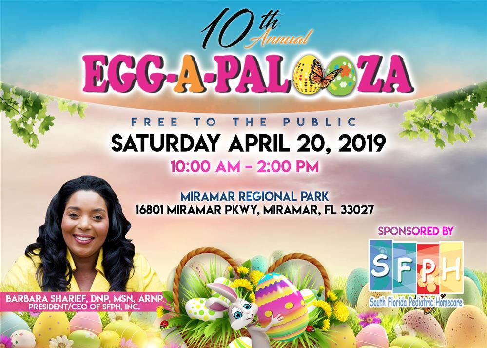 Tenth Annual Egg-A-Palooza on Saturday April 20, 2019