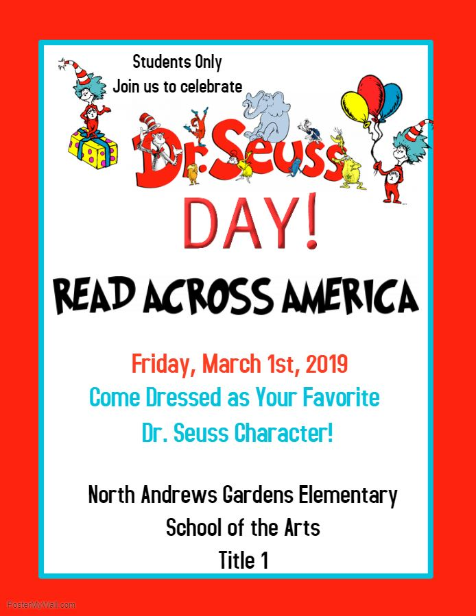 Read Across America Day-Celebrating Dr. Seuss
