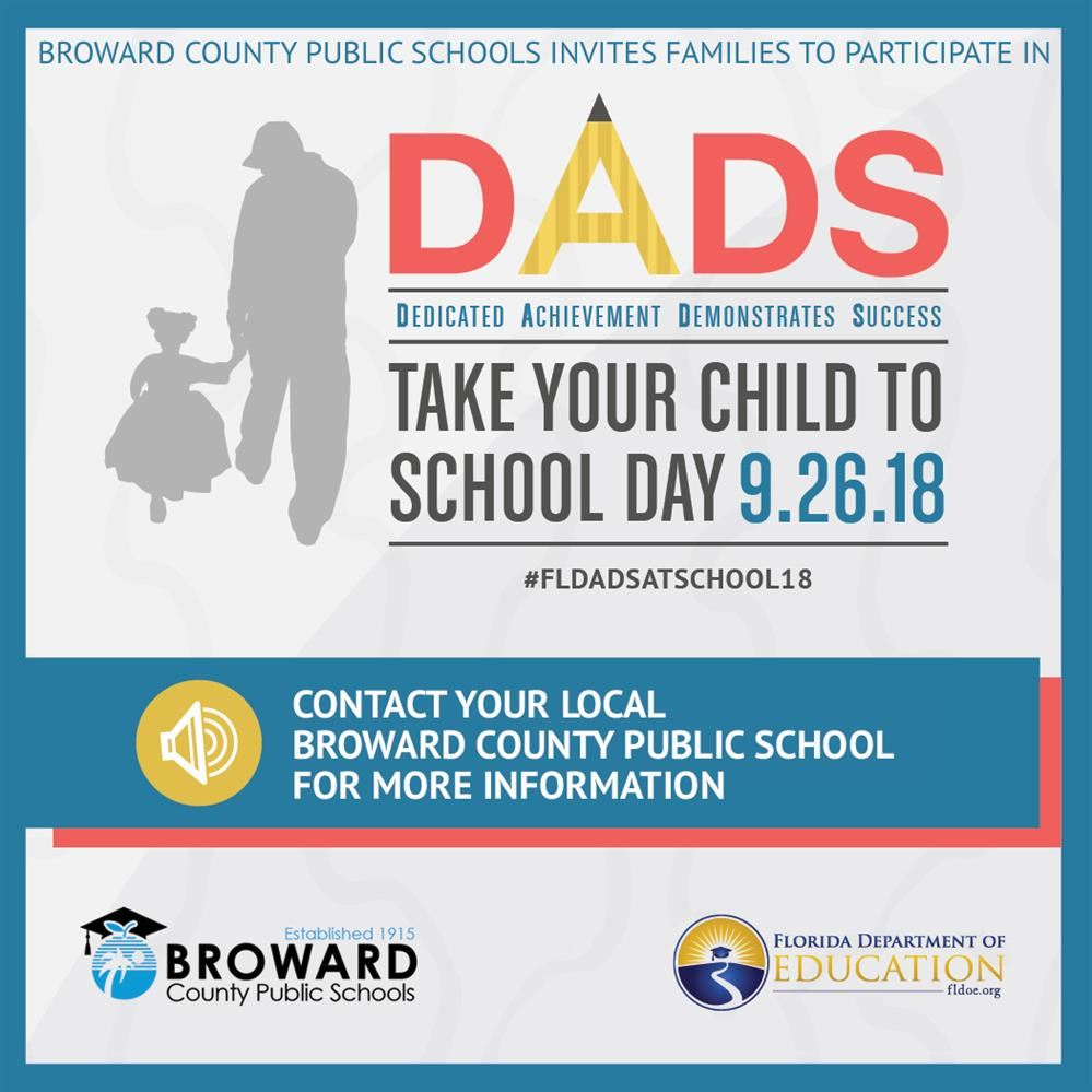 Dads Take your child to school logo
