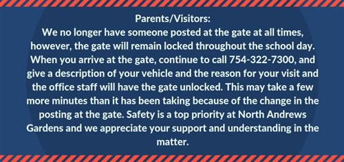 Gate Access- VERY IMPORTANT- PLEASE READ