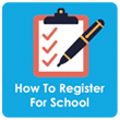How to register your child for school clip art