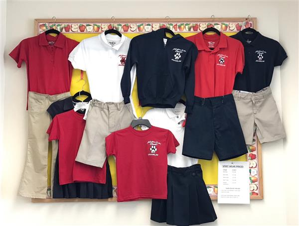 Photo of uniform examples