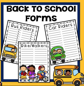 Complete your Child's Back to School Forms Here