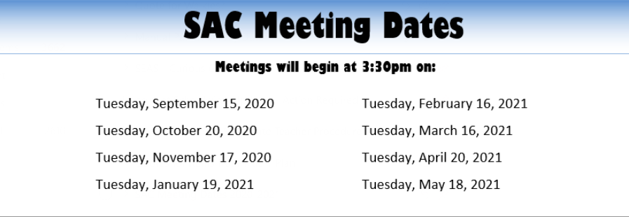 SAC Meeting Dates