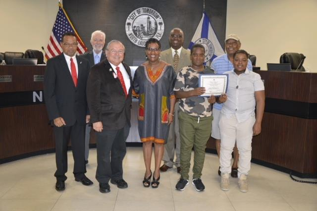 Recognition from City of North Lauderdale