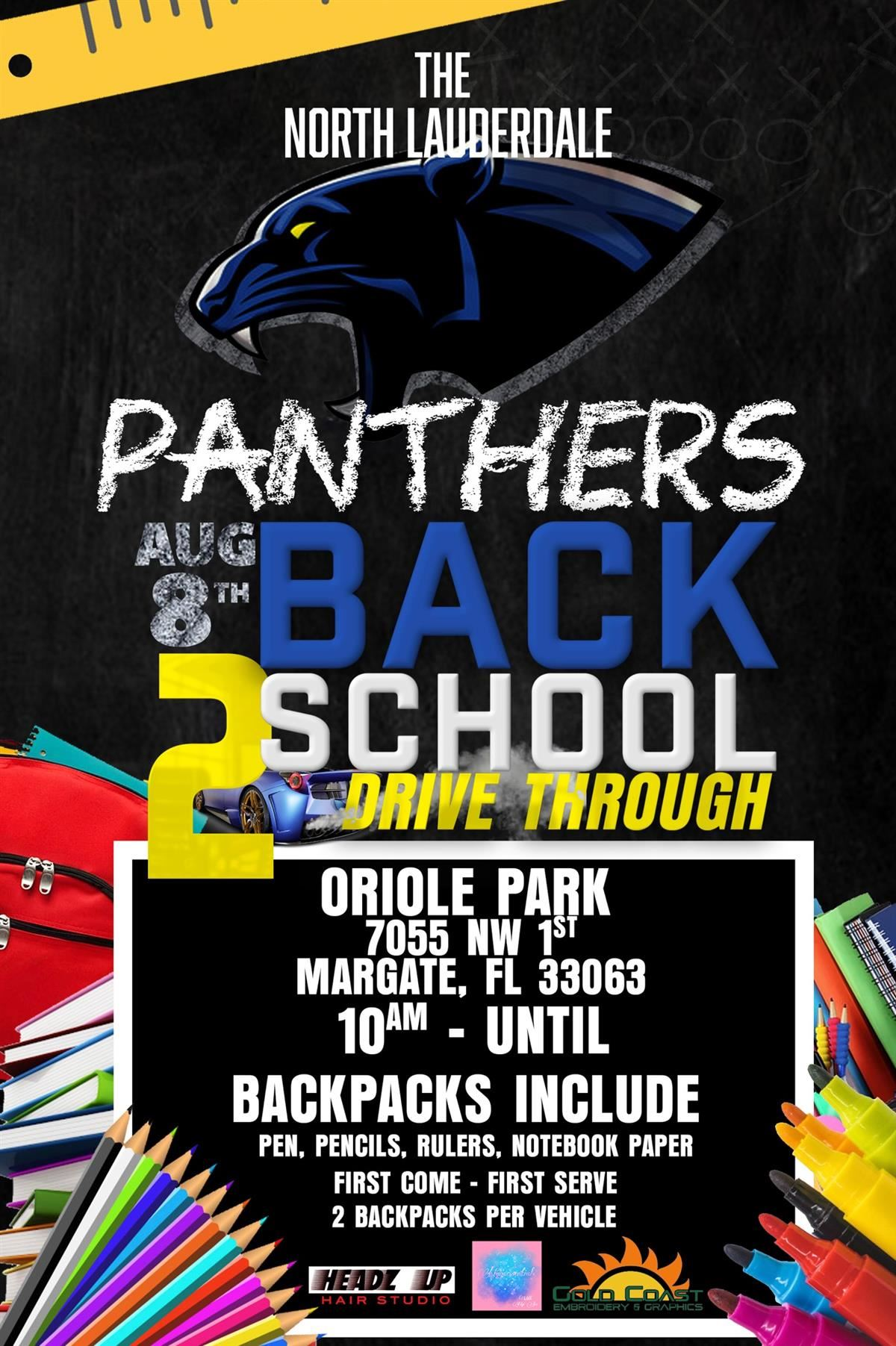 Panthers Back to School Drive Through