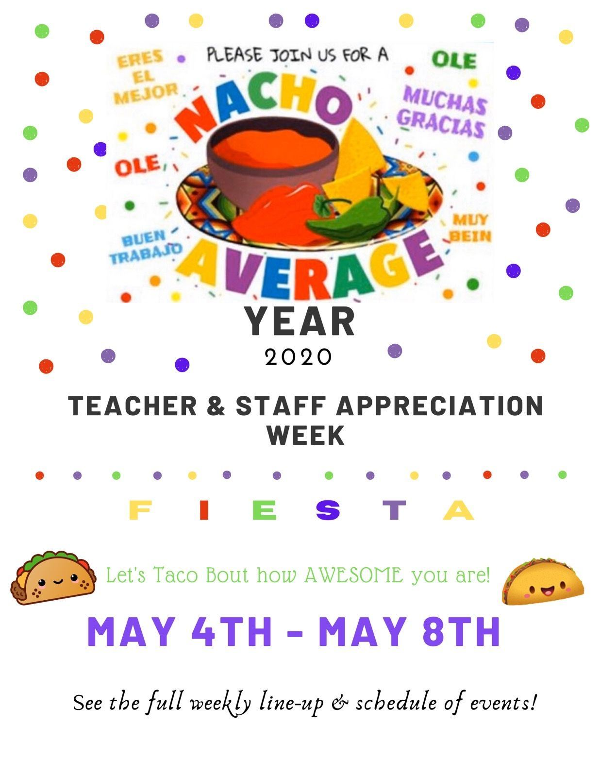 Teacher & Staff Appreciation Week