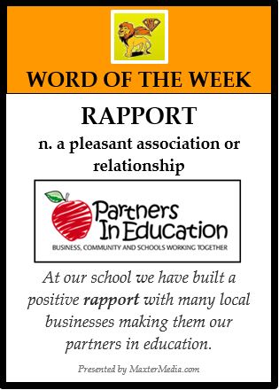 Word of the Week:  RAPPORT