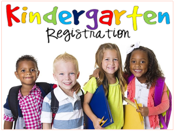 Image of four childen for stating Kindergarten Registration.