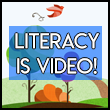 Logo for the Literacy Is video by North Side Elementary