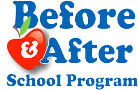 Before and After School Care Logo with Apple
