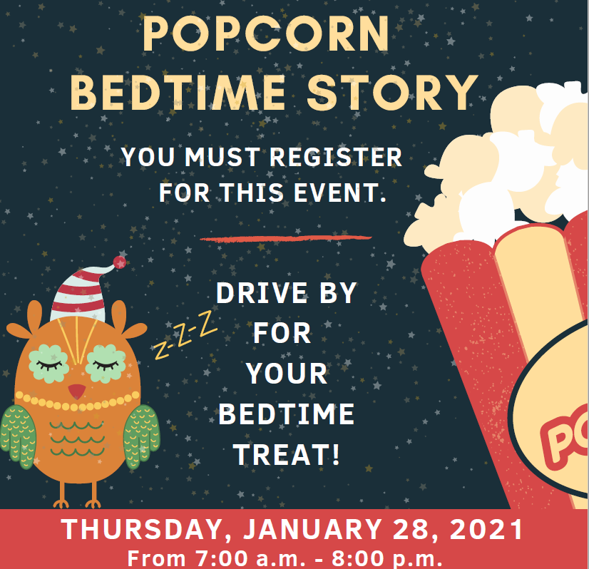 Virtual bed time popcorn story