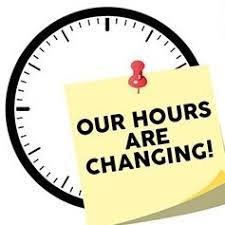 NEW SCHOOL HOURS!!! 2019-2020 SCHOOL YEAR