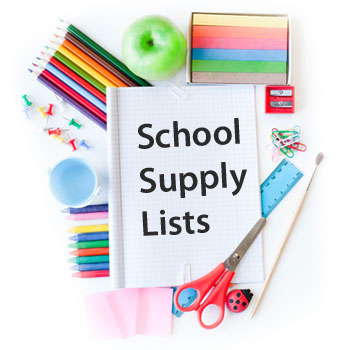 Updated Supply Lists for 2018-2019