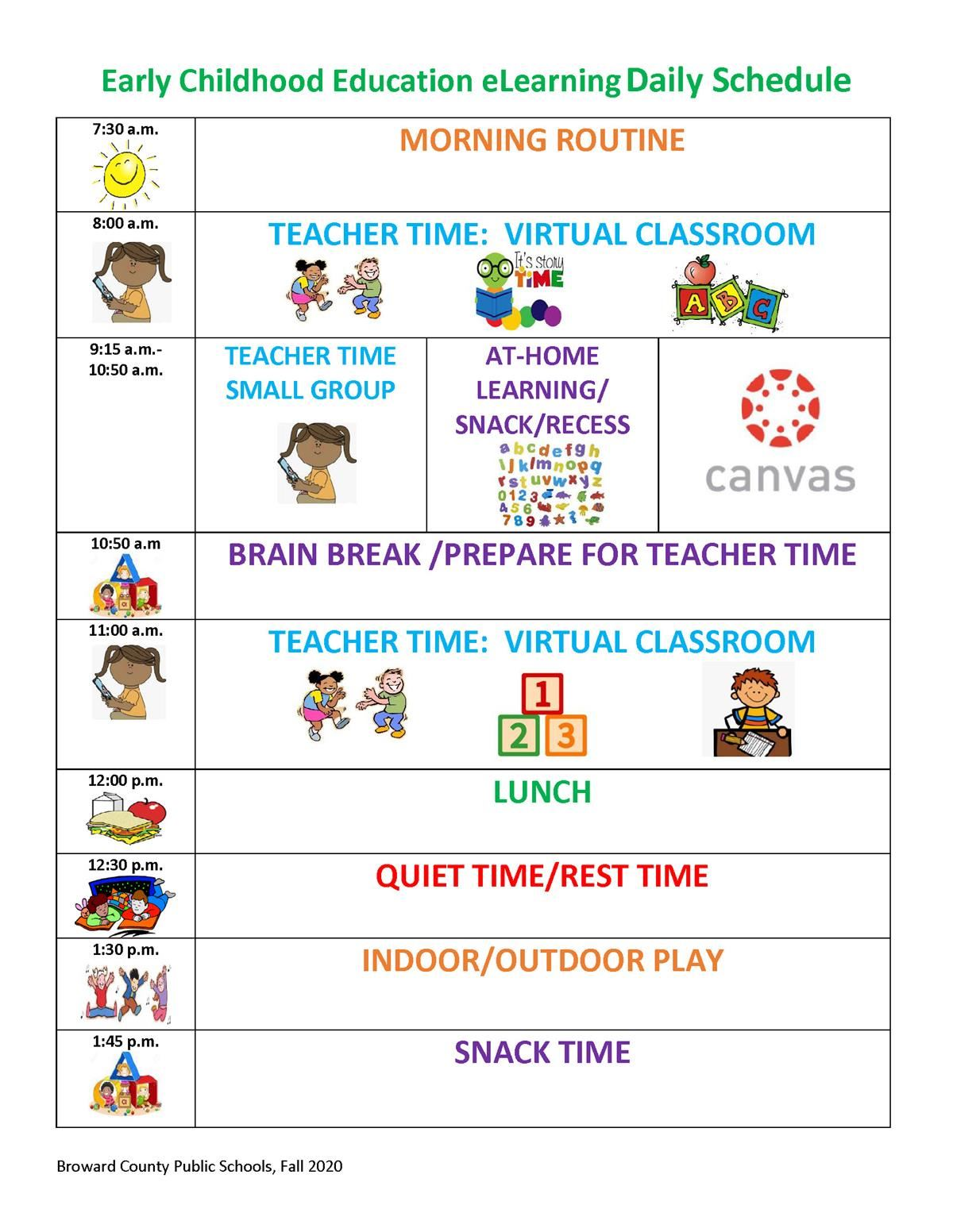 Prek Daily Schedule
