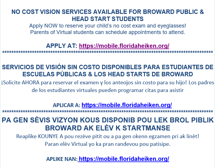 Free Eye Exam Information