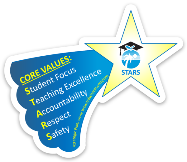 STARS Our Core Values (Student Focus, Teaching Excellence, Accountability, Respect, Safety)