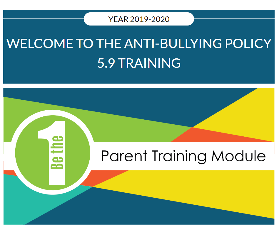 Parent Anti-Bully Training Module