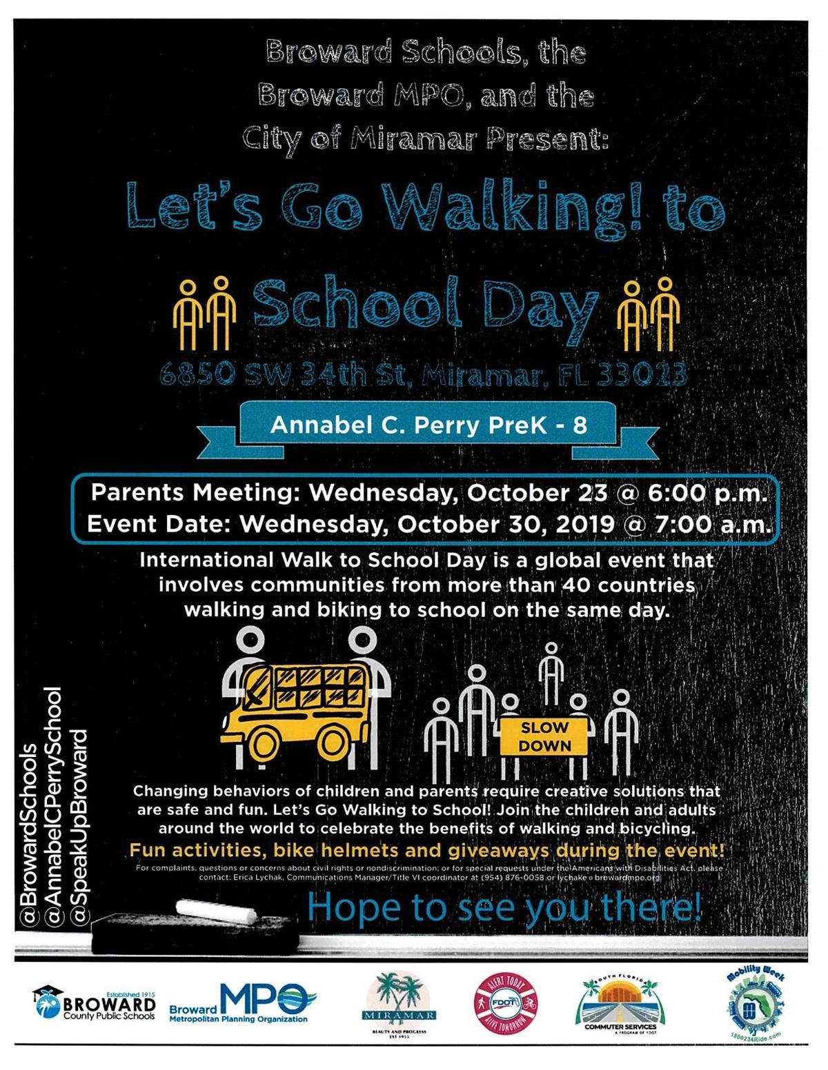 Let's Go Walking to School Day