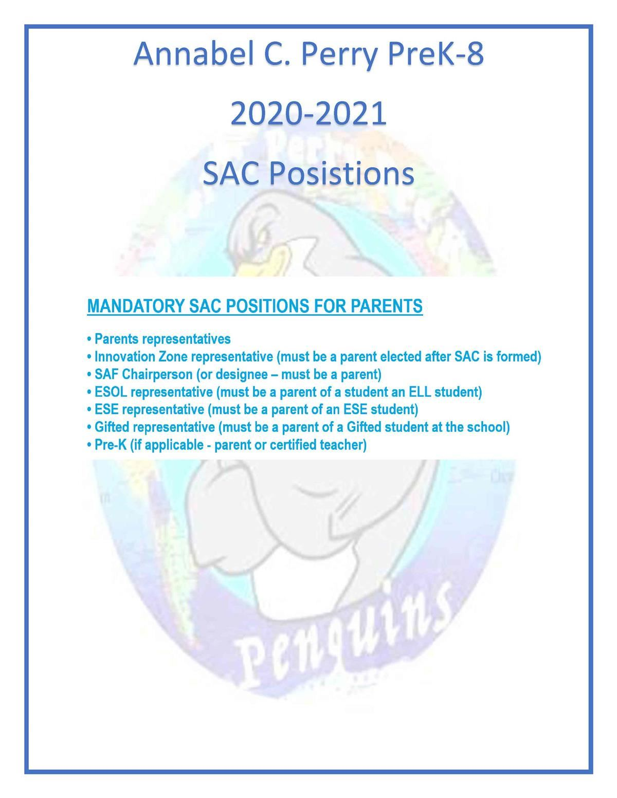 SAC Positions 2020-2021