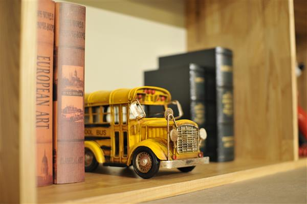Bus on shelf