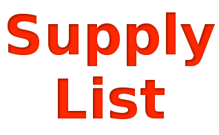 2018 Recommended Supply List