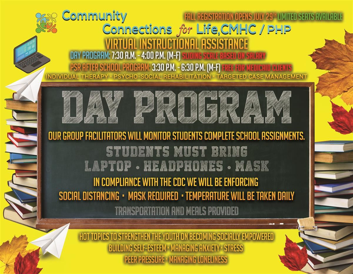 Day Program Community Connections for Life, CMHC/PHP