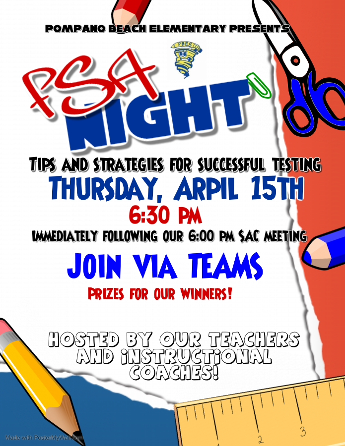 April 15, 2021 is FSA Family night.