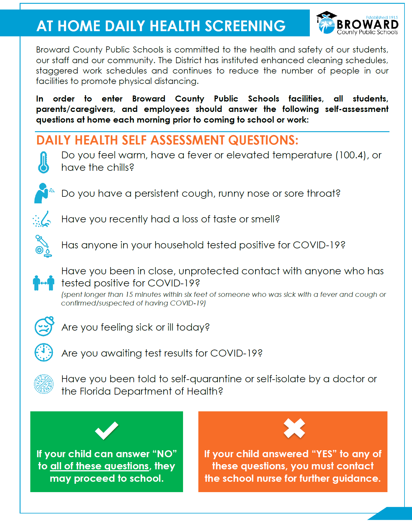 How are you Feeling? Daily Health Assessment Guide
