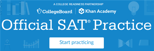 Official SAT practice banner