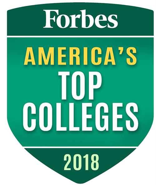 Forbe's top colleges badge