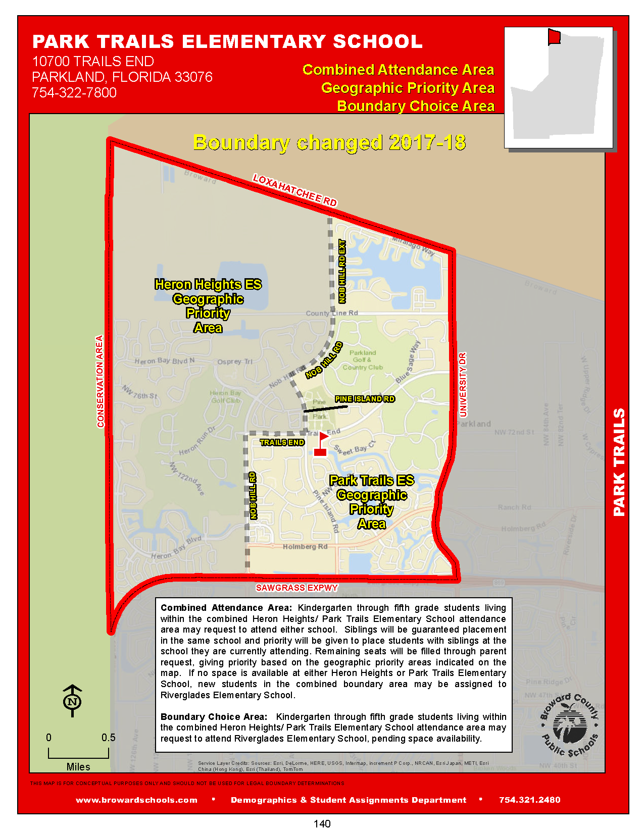 Parkland Trails choice area map
