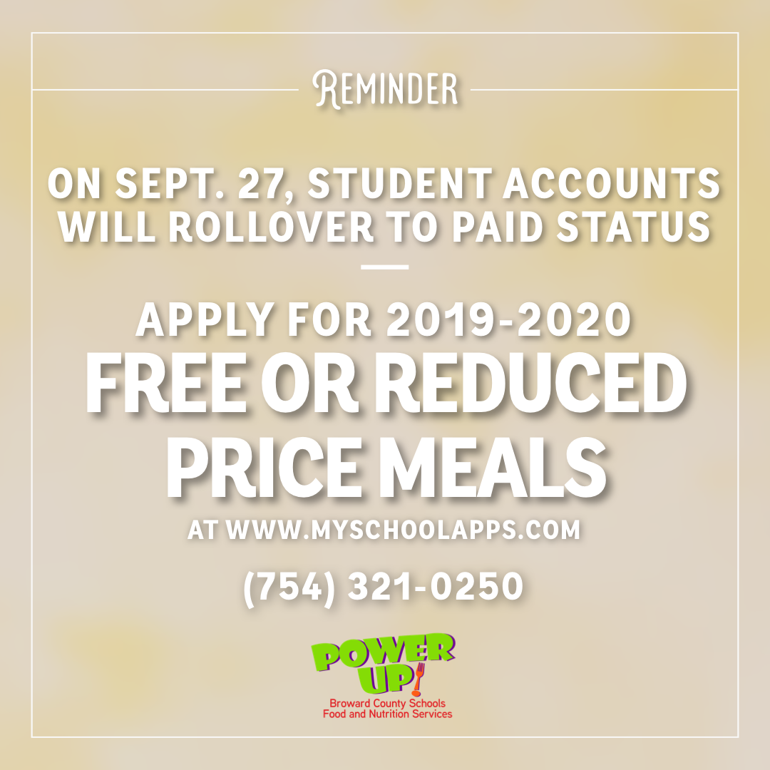 Student Accounts will Rollover to Paid Status September 27, 2019