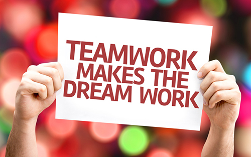Teamwork makes the dream work image