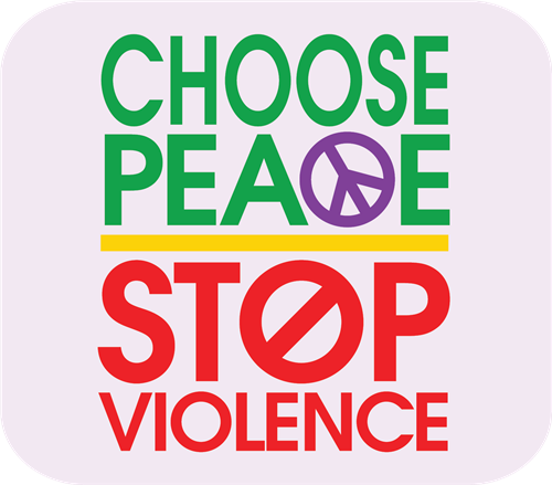 choose peace stop violence