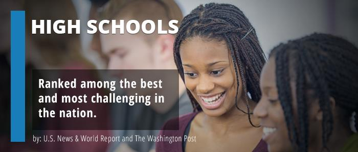 High Schools ranked among the most challenging in the nation.
