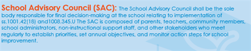 School Advisory Council Description