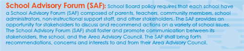 School Advisory Forum Description