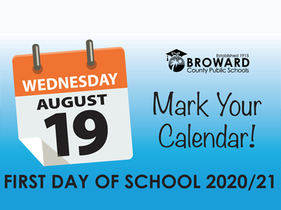 Broward County School Board Approves 2020/21 School Year Calendar